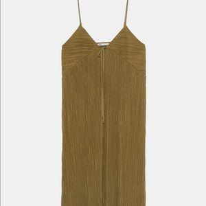 Zara Long Pleated Dress - NWT!!